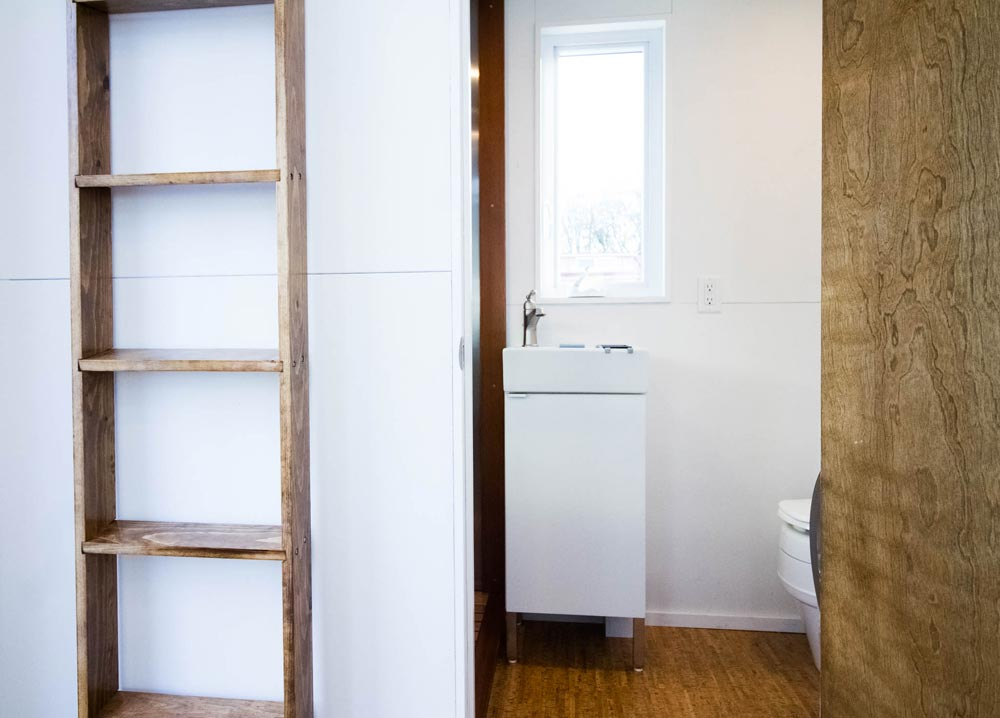 Loft Ladder & Bathroom Entry - Modern by Liberation Tiny Homes