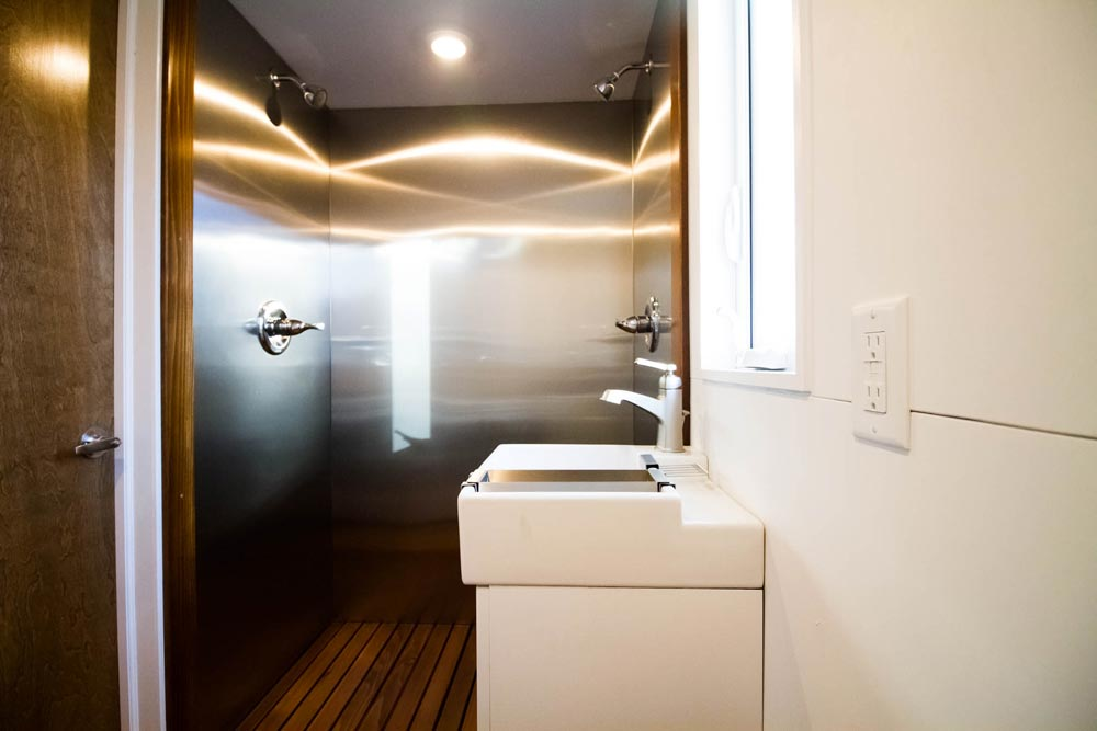 Bathroom Sink & Stainless Steel Shower - Modern by Liberation Tiny Homes