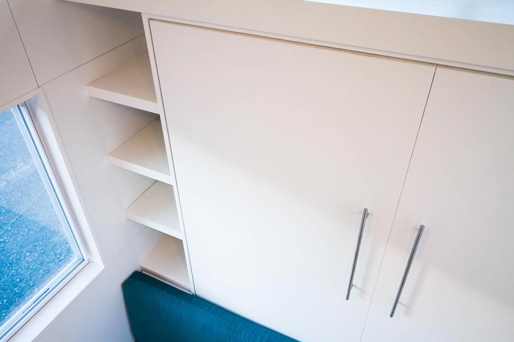 Storage Behind Couch/Bed - Modern by Liberation Tiny Homes