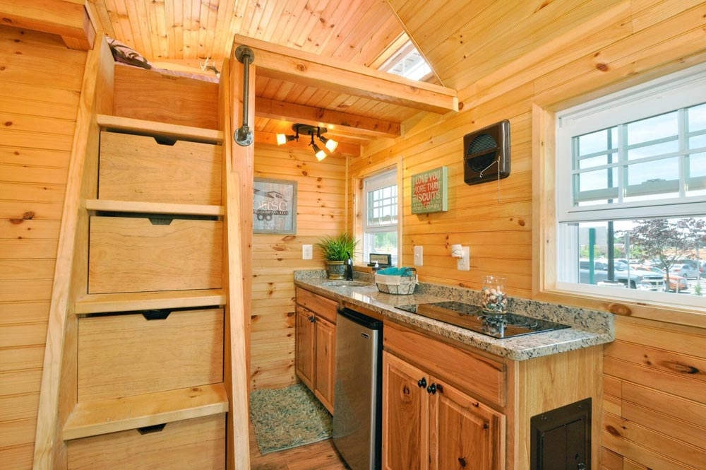 Kitchen with granite countertops - Mountaineer by Tiny House Building Company