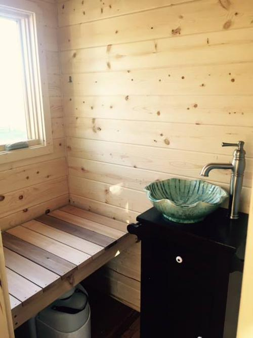 Cedar Bench Over Toilet - Peponi by Perch & Nest