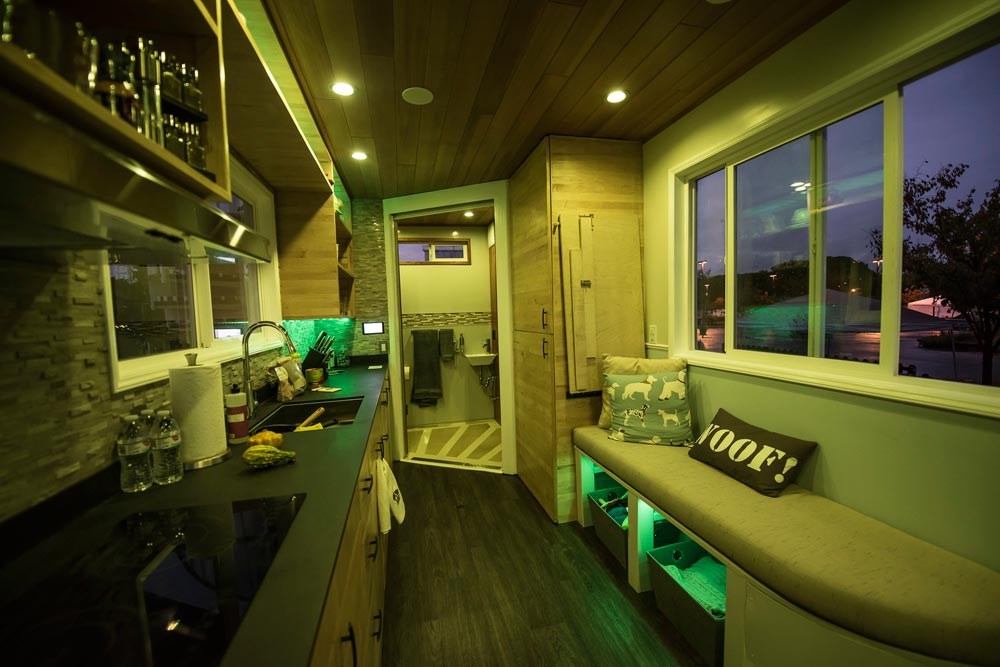 Tiny House Kitchen with LED Lighting - rEvolve by Santa Clara University