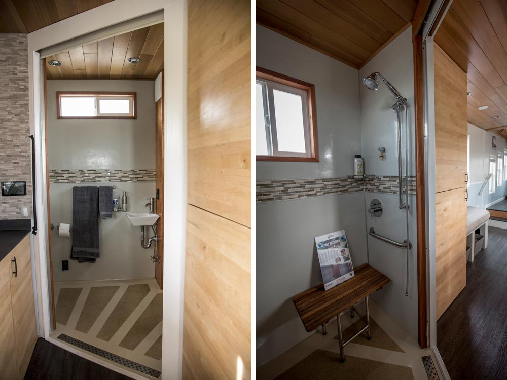 Tiny House Shower - rEvolve by Santa Clara University