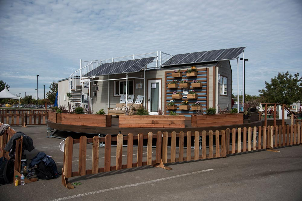 Solar Panels and Wall Garden - rEvolve by Santa Clara University