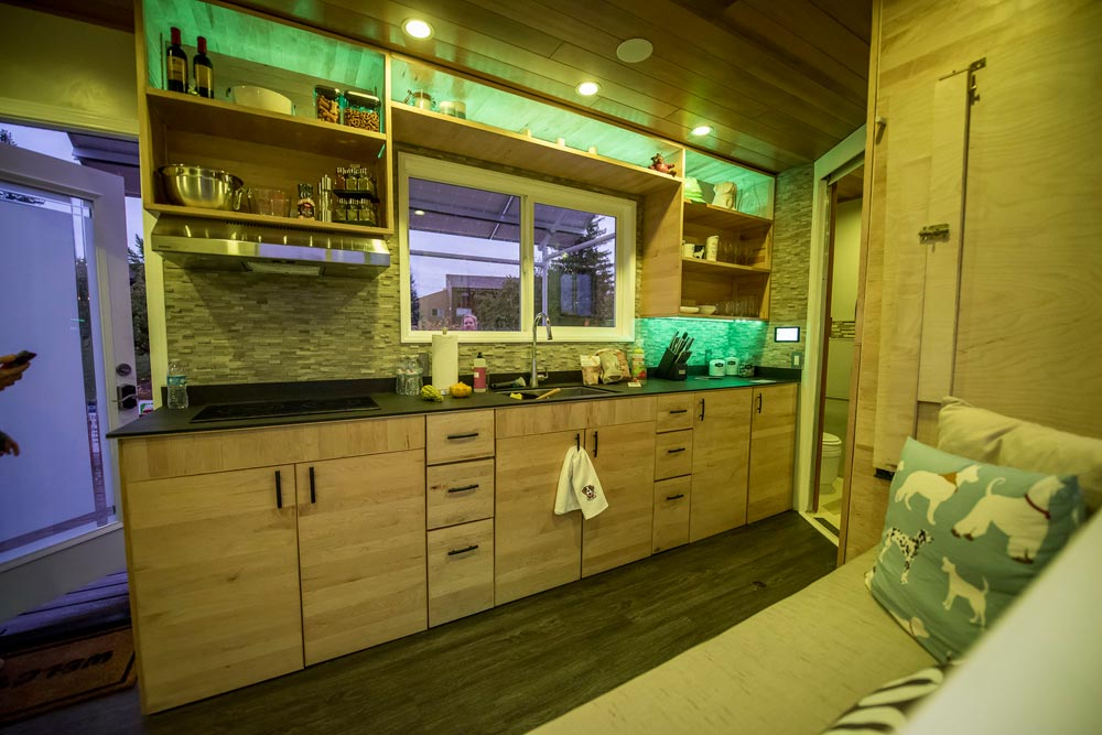 Tiny House Kitchen with Electric Cooktop - rEvolve by Santa Clara University