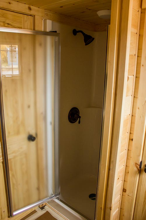 Shower Stall - Tiny House by Rollin Cabins