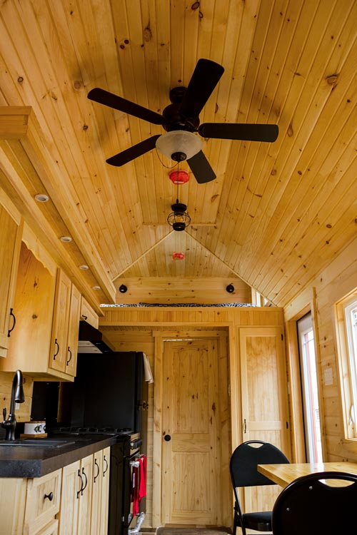 Kitchen & Loft - Tiny House by Rollin Cabins