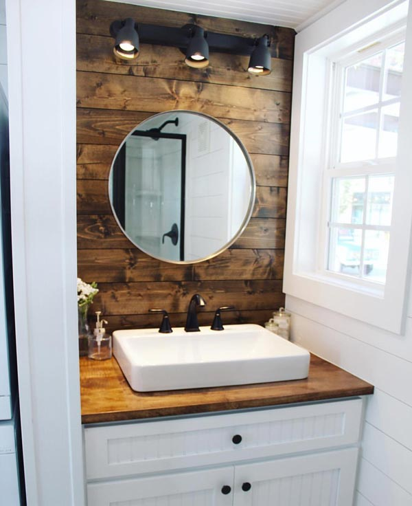 Bathroom Sink & Mirror - Sprout by Mustard Seed Tiny Homes
