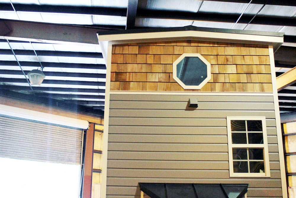 Cedar shake and pine siding - Sprout by Mustard Seed Tiny Homes