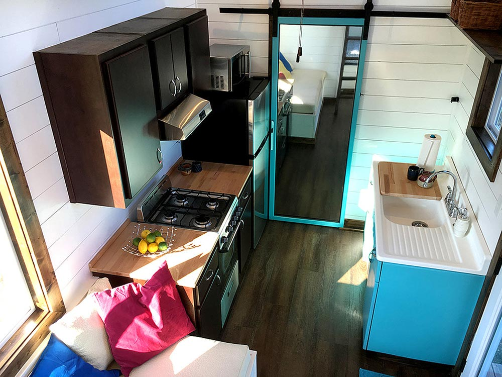 Aerial View of Kitchen - Youngstown by Harmony Tiny Homes