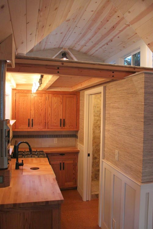 Kitchen w/ Upper Cabinets - Craftsman Bungalow by Molecule Tiny Homes
