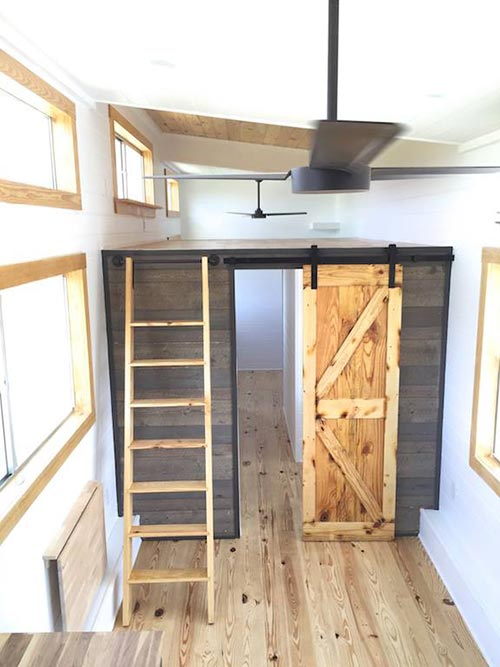 Loft Above Bathroom - Irving by Tiny House Construction