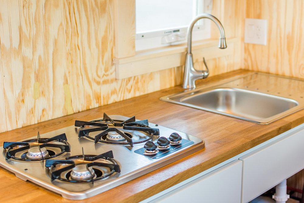 Oak Butcher Block Countertop - Jessica's Tiny House by MitchCraft Tiny Homes