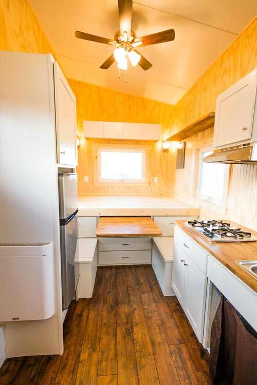 Slide Out Dining Table - Jessica's Tiny House by MitchCraft Tiny Homes