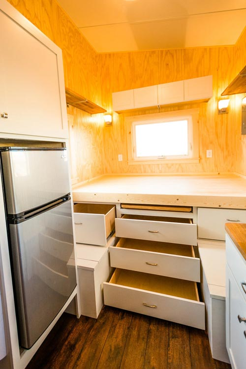 Refrigerator - Jessica's Tiny House by MitchCraft Tiny Homes