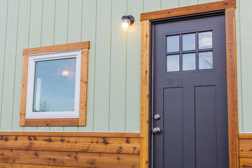 Front Door - Jessica's Tiny House by MitchCraft Tiny Homes