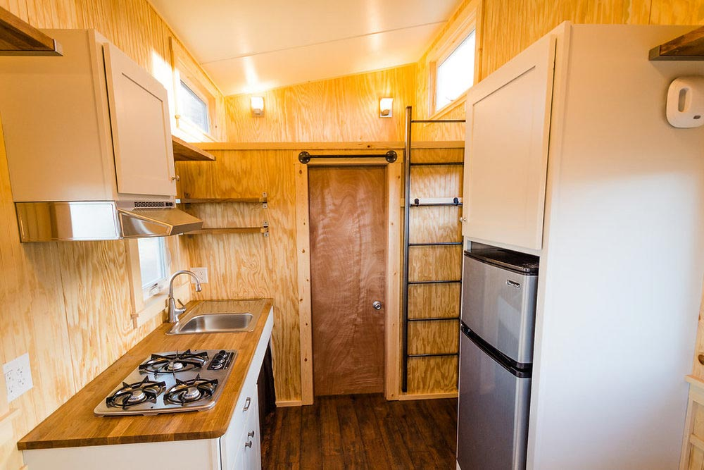 Kitchen - Jessica's Tiny House by MitchCraft Tiny Homes