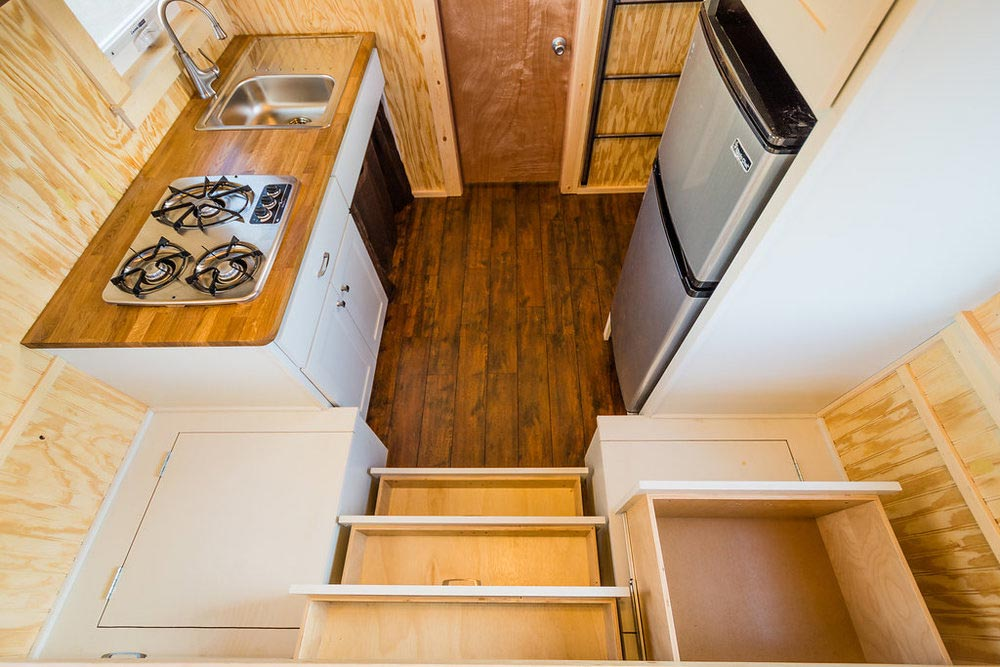 Storage Spaces - Jessica's Tiny House by MitchCraft Tiny Homes