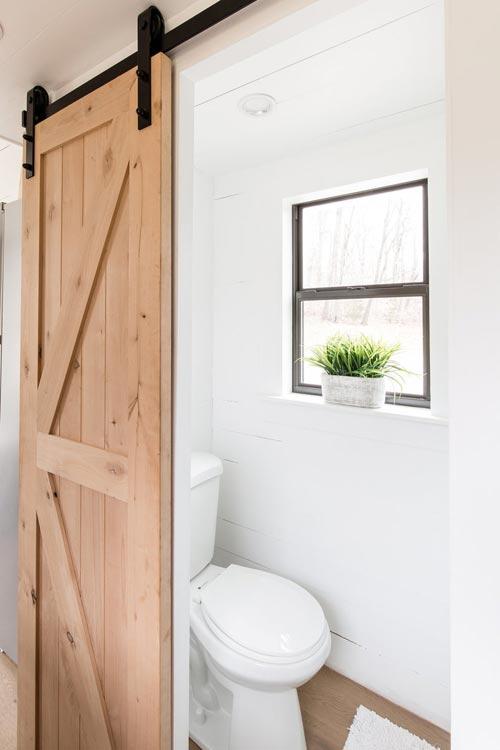 Bathroom Barn Door - Lindley by Tiny Life Construction