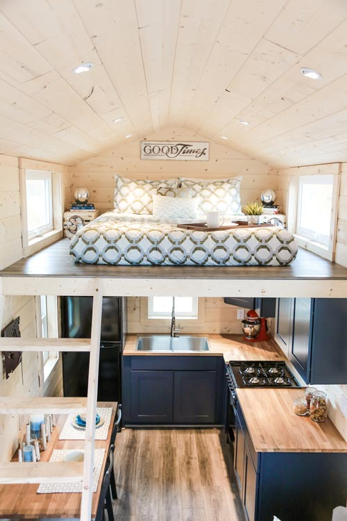 Kitchen & Loft - Mansion by Uncharted Tiny Homes