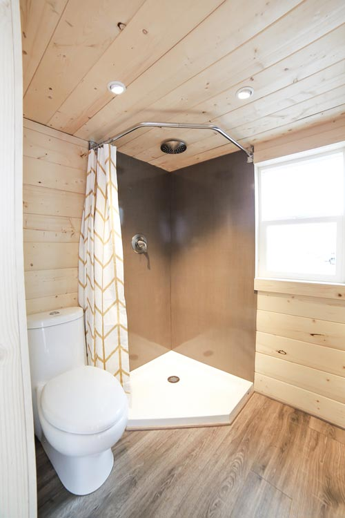 Stainless Steel Shower - Mansion by Uncharted Tiny Homes