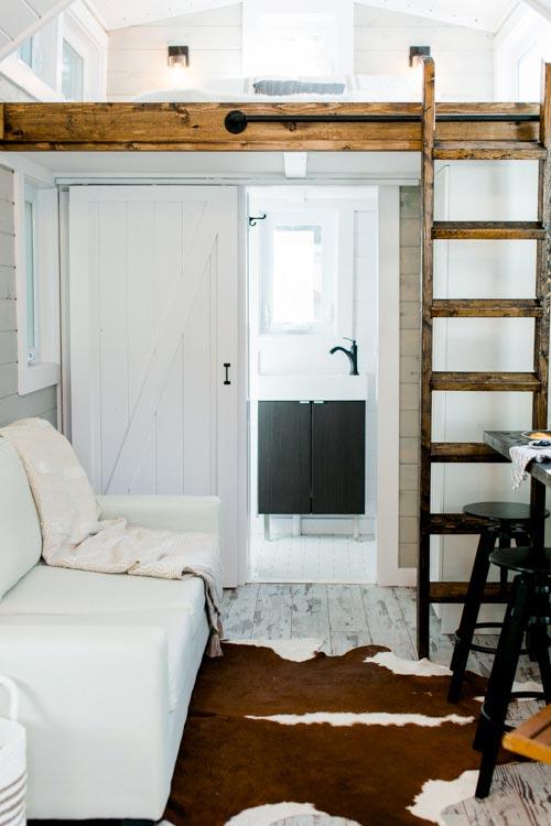 Living Area & Bathroom - Tiny Marta by Sanctuary Tiny Homes