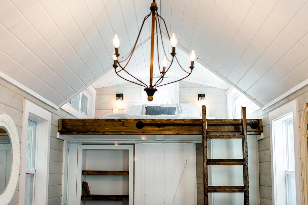 Bedroom Loft & Ladder - Tiny Marta by Sanctuary Tiny Homes