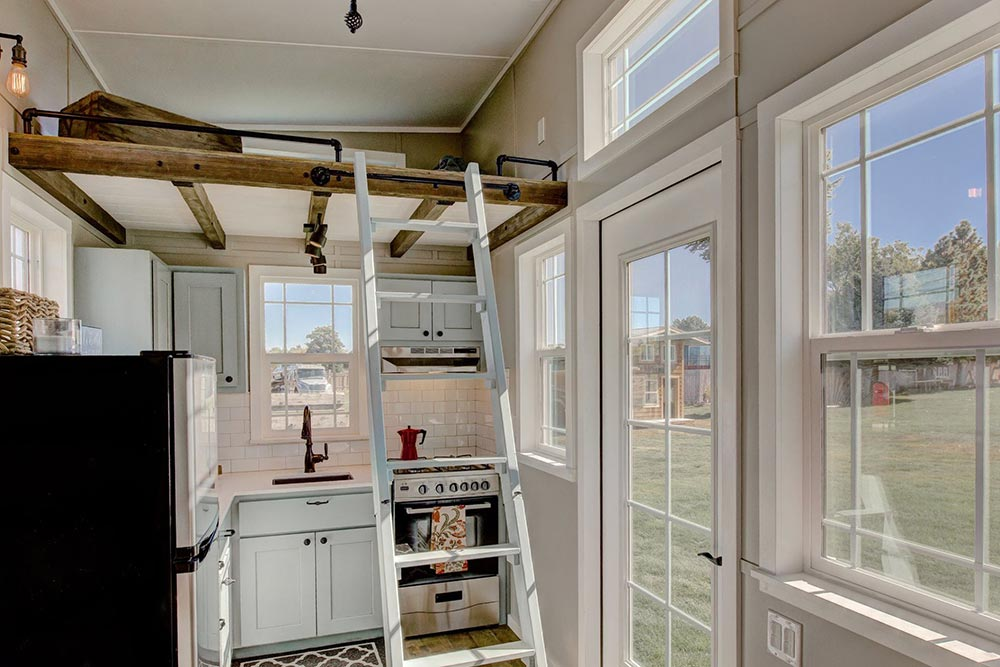 Bedroom Loft Ladder - Mouse House Tiny Homes