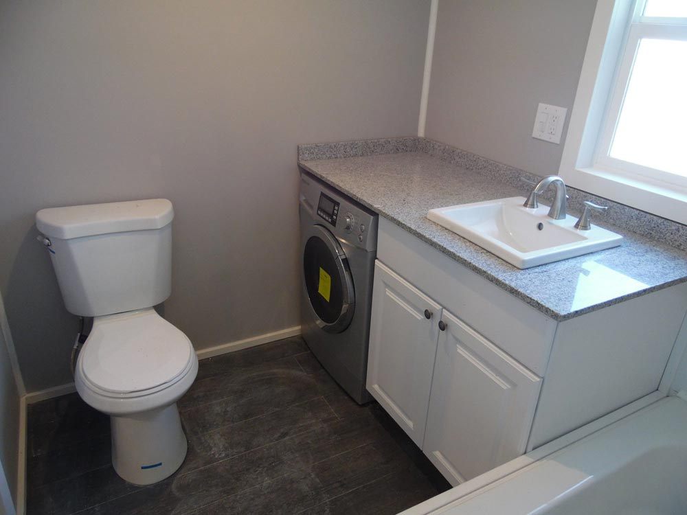 Bathroom w/ Washer/Dryer Combo - Park City by Upper Valley Tiny Homes