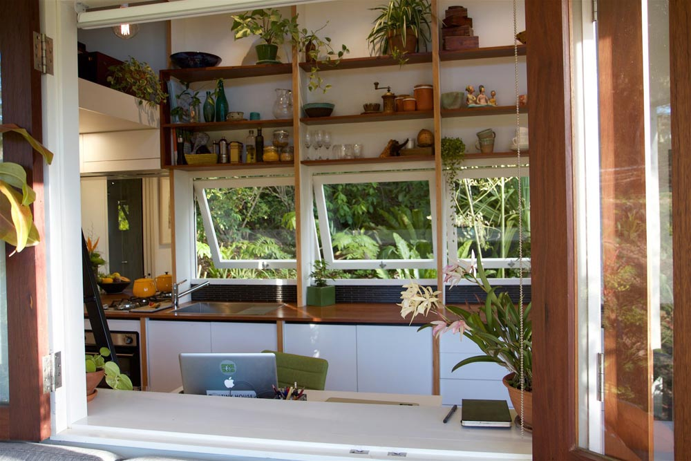 Kitchen Windows & Counter - Portal by The Tiny House Company