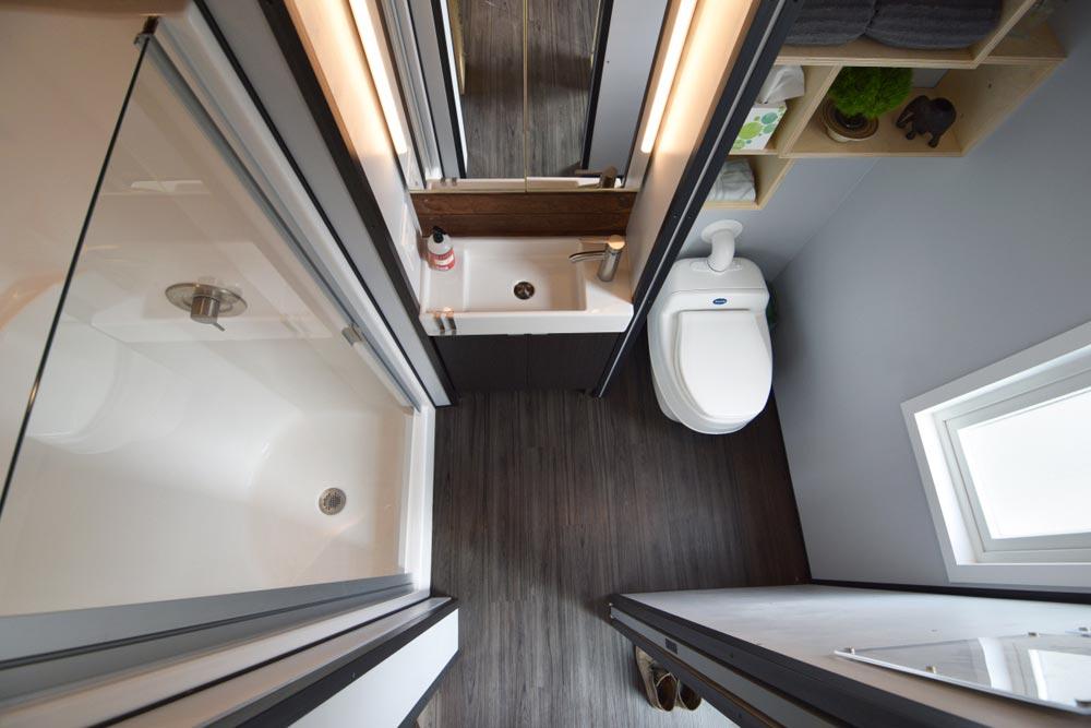 Luxurious Tiny House Bathroom - SHEDsistence Tiny House