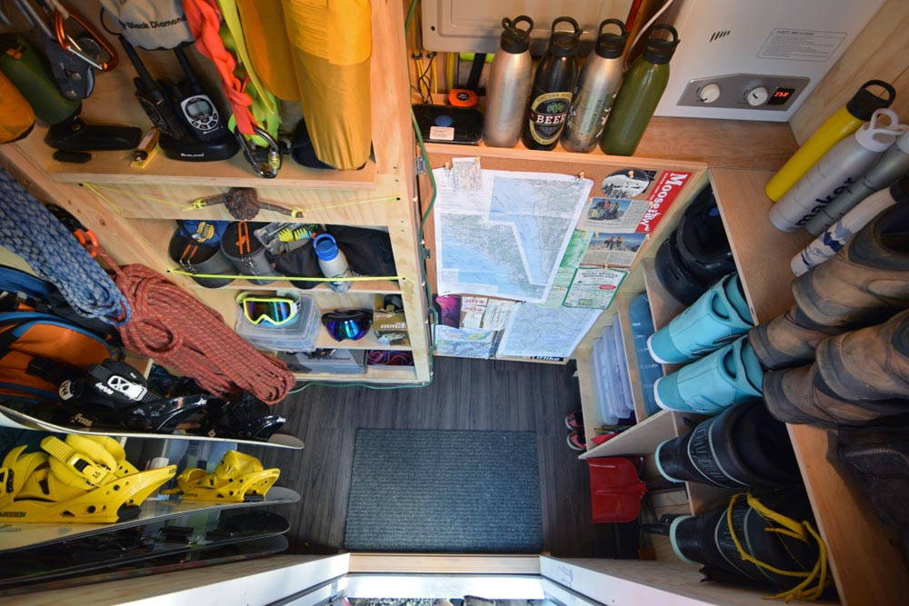 Gear Storage Area - SHEDsistence Tiny House