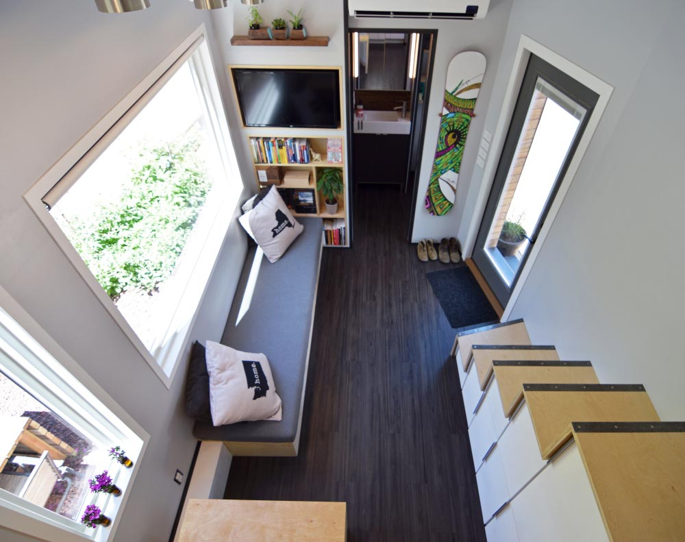View from bedroom loft - SHEDsistence Tiny House