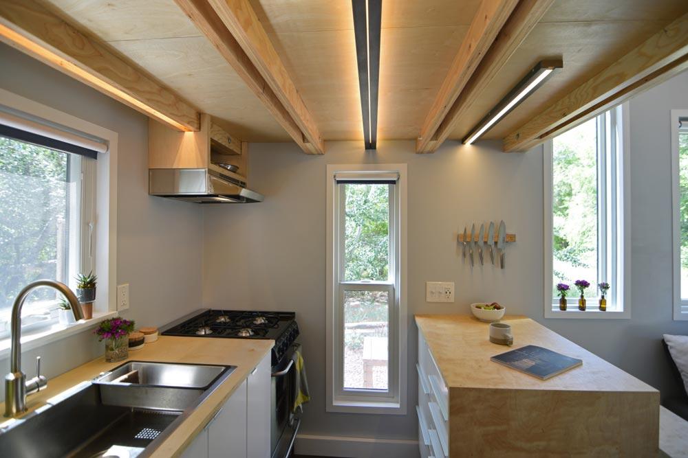 Galley Kitchen - SHEDsistence Tiny House