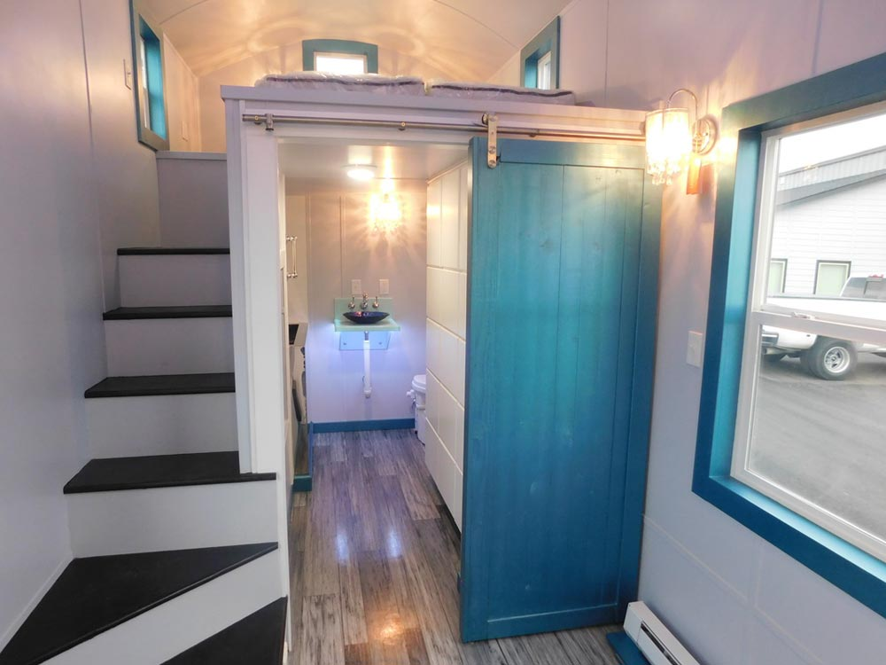 Bathroom Barn Door - French Storyteller by Tiny Idahomes
