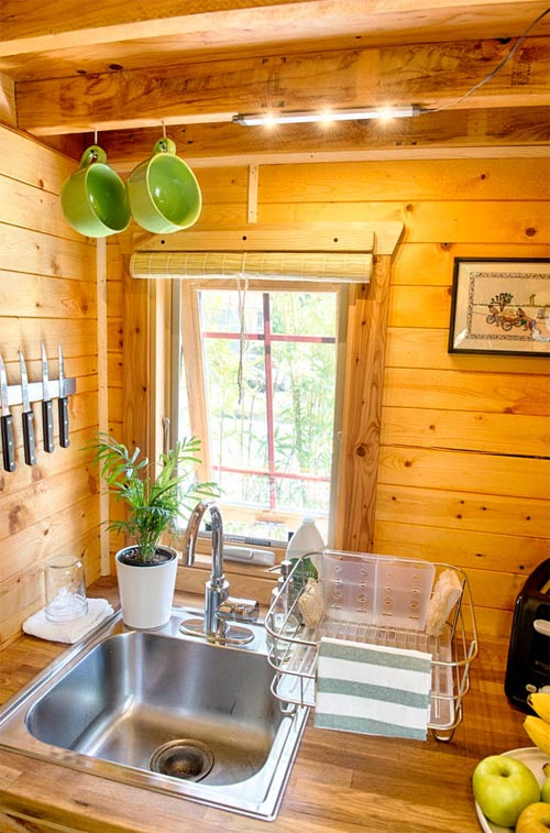 Kitchen Sink & Window - Tiny Tack House
