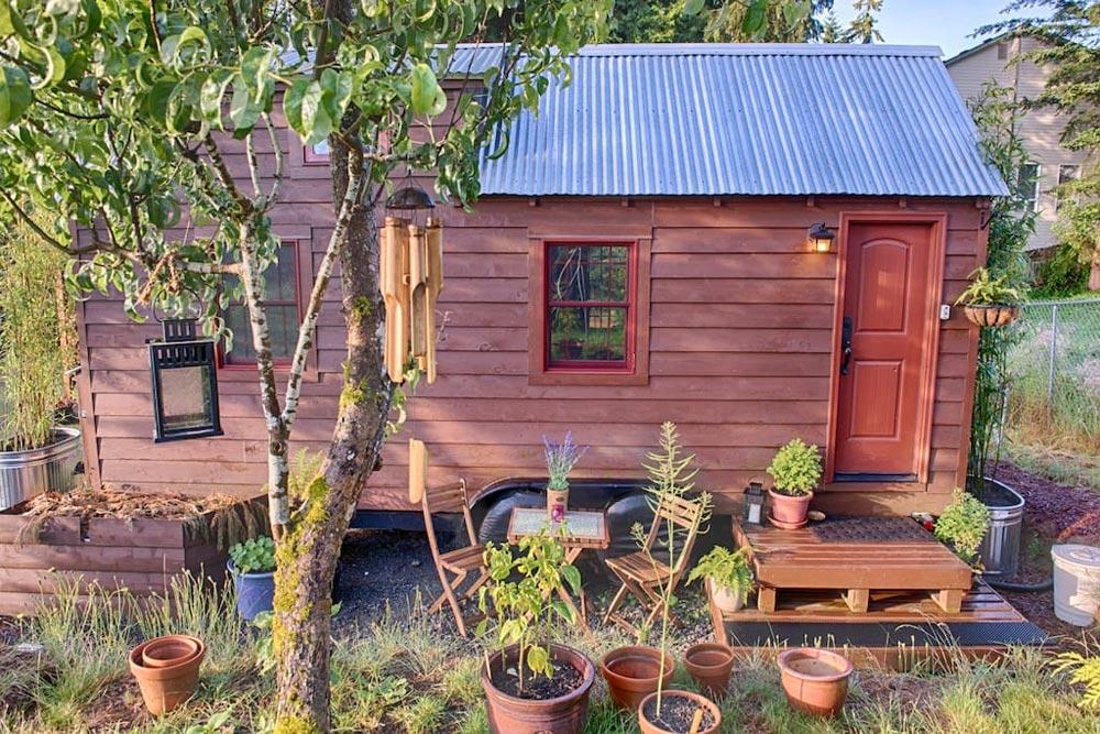 Front Door & Porch - Tiny Tack House