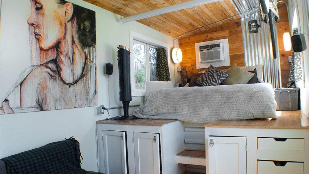 Bedroom Over Gooseneck - Terraform One by Terraform Tiny Homes