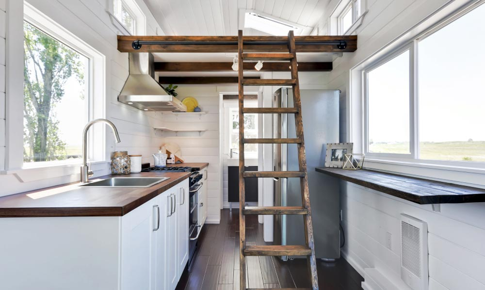 Kitchen & Bedroom Loft - Just Wahls Tiny House
