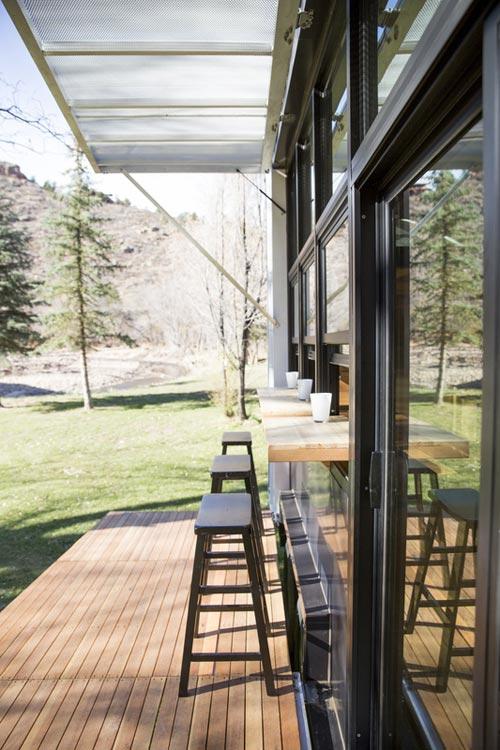 Inside/Outside Bar - Atlas Tiny House