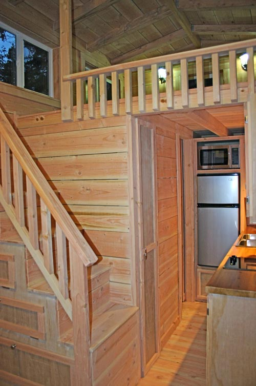 Stair Detail - Cape Cod by Molecule Tiny Homes