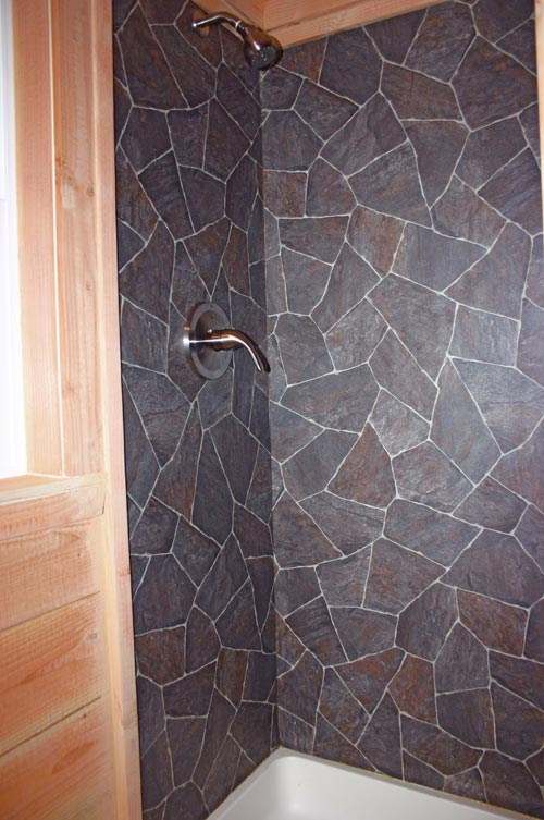 Tile Shower - Cape Cod by Molecule Tiny Homes