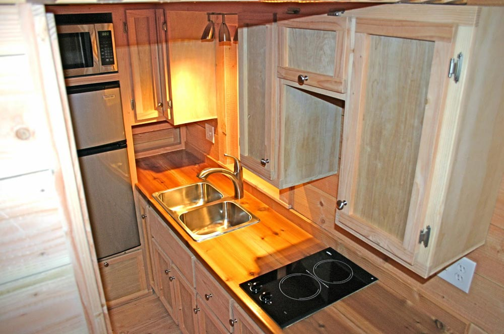 Kitchen with Electric Cooktop - Cape Cod by Molecule Tiny Homes
