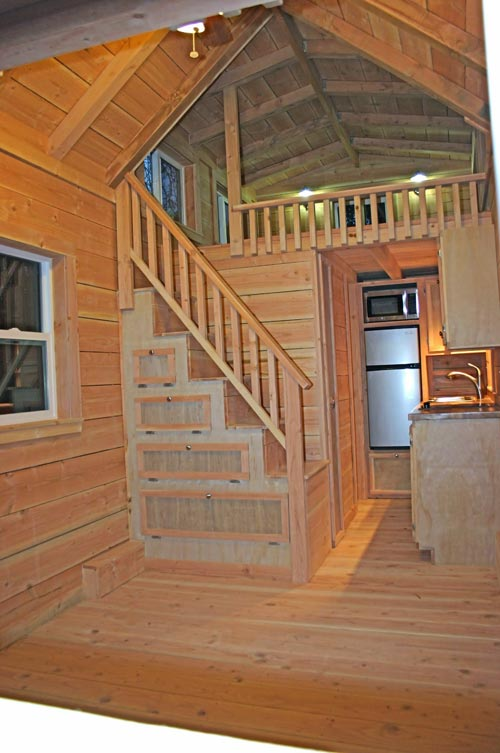 Storage Stairs - Cape Cod by Molecule Tiny Homes