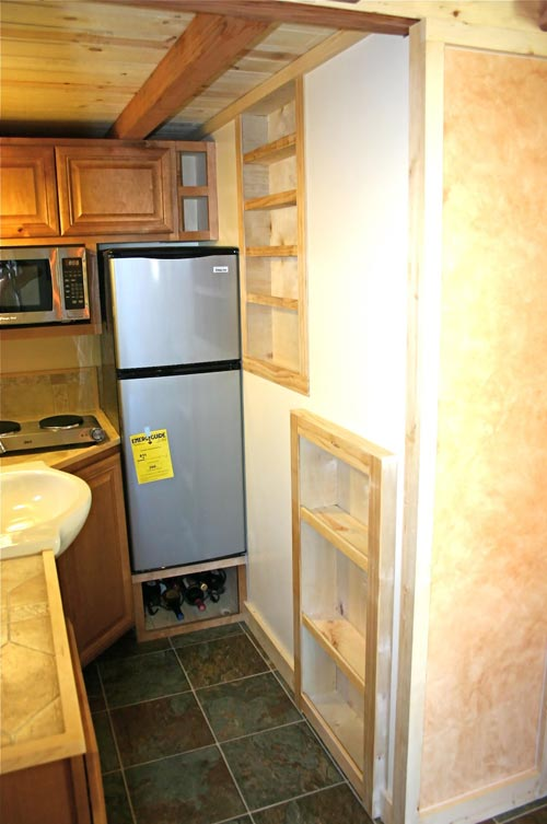 Refrigerator - Dormer Loft Cottage by Molecule Tiny Homes