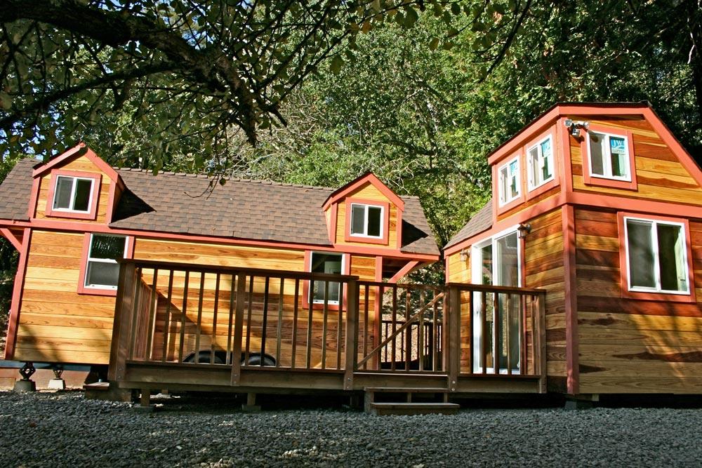 Deck - Dormer Loft Cottage by Molecule Tiny Homes