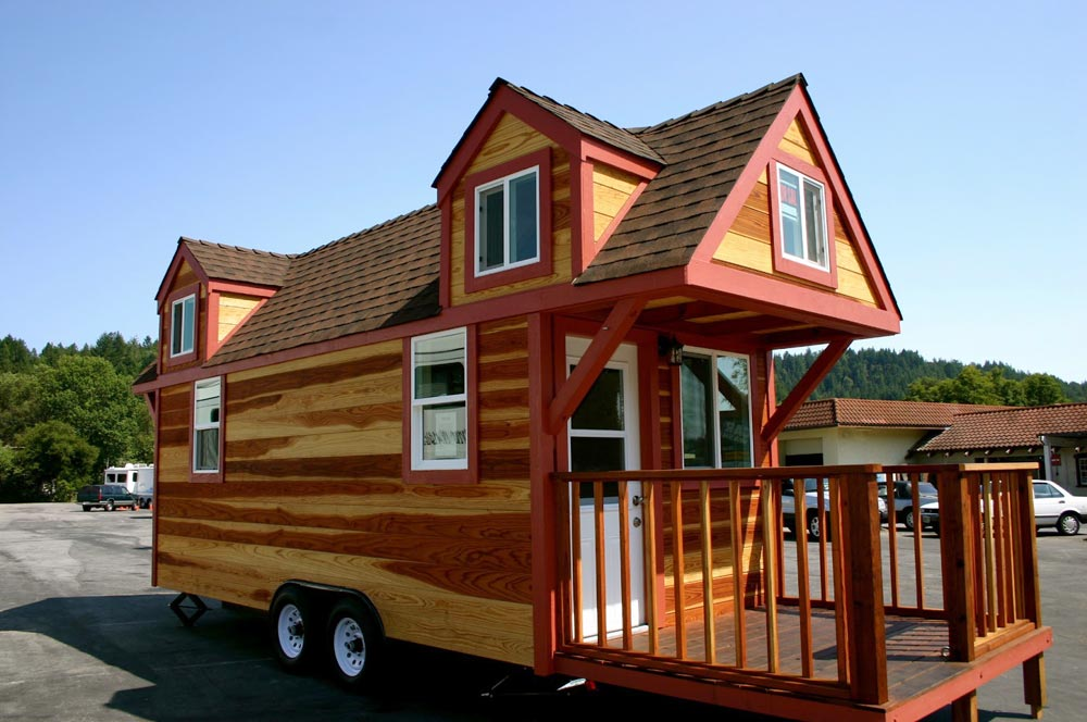 Fold Up Deck - Dormer Loft Cottage by Molecule Tiny Homes