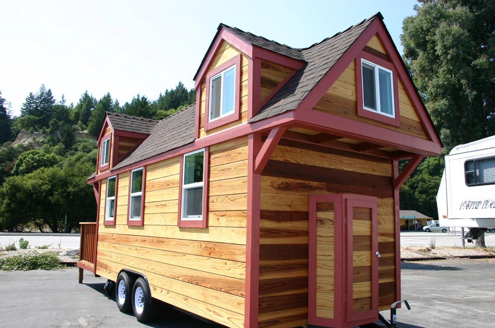 Hitch Side w/ Electric Panel - Dormer Loft Cottage by Molecule Tiny Homes