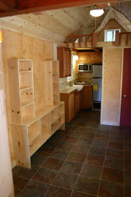 Shelving & Kitchen - Dormer Loft Cottage by Molecule Tiny Homes