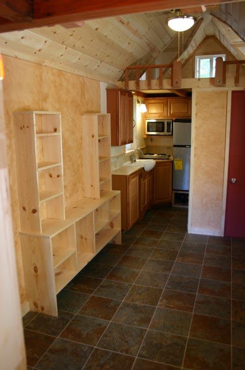 Shelving & Kitchen - Dormer Loft Cottage by Molecule Tiny Homes